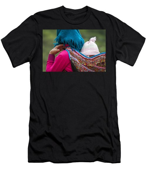 Men's T-Shirt (Athletic Fit) featuring the photograph Mother, Sa Pa, 2014 by Hitendra SINKAR