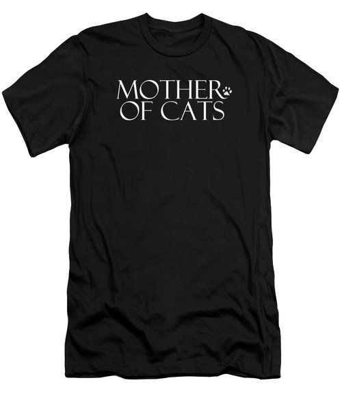 Mother Of Cats- By Linda Woods Men's T-Shirt (Slim Fit) by Linda Woods