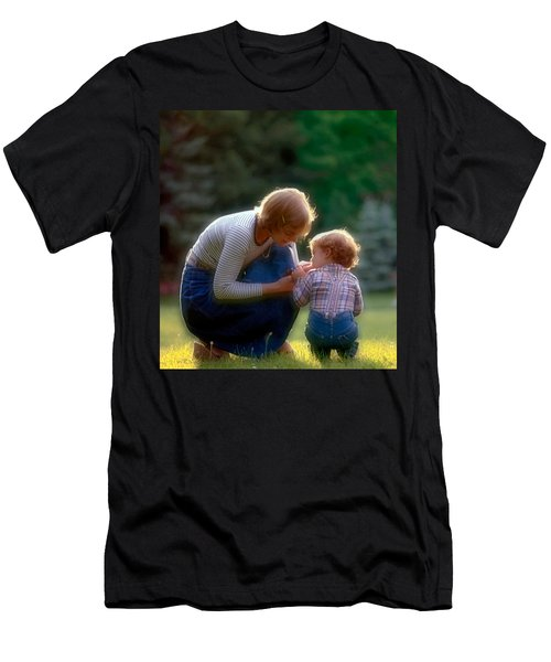 Mother With Kid Men's T-Shirt (Athletic Fit)