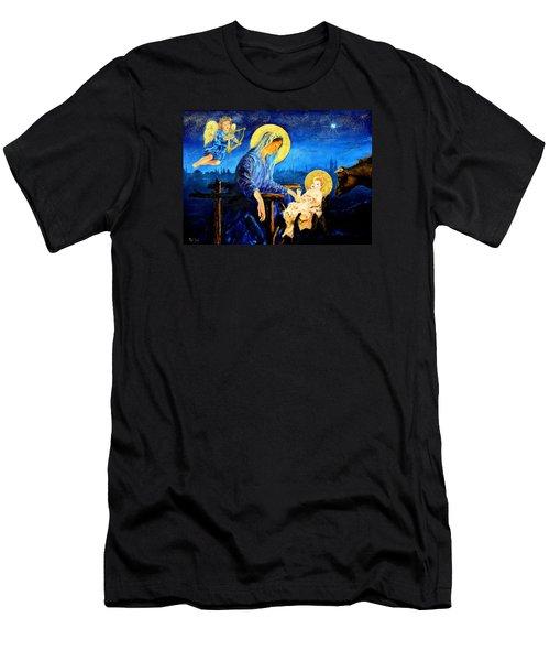 Motherhood Men's T-Shirt (Slim Fit) by Henryk Gorecki