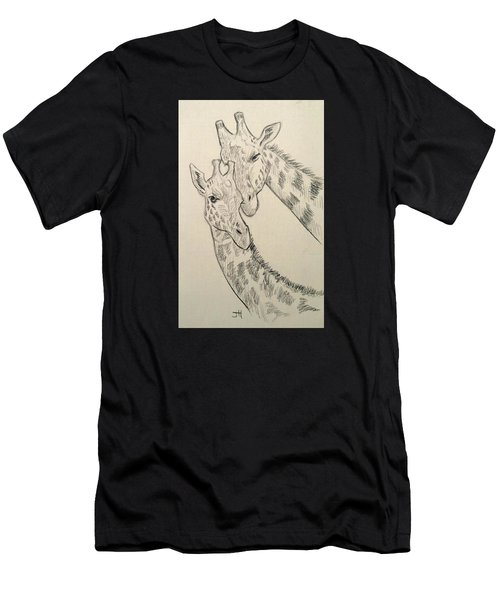 Men's T-Shirt (Athletic Fit) featuring the drawing Motherly Knudge by Jennifer Hotai