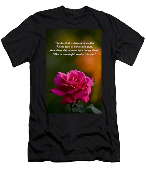 Men's T-Shirt (Slim Fit) featuring the photograph Mother's Day Card 2 by Michael Cummings