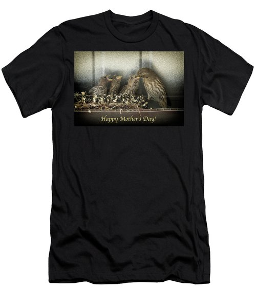 Men's T-Shirt (Slim Fit) featuring the photograph Mother's Day Greetings by Alan Toepfer