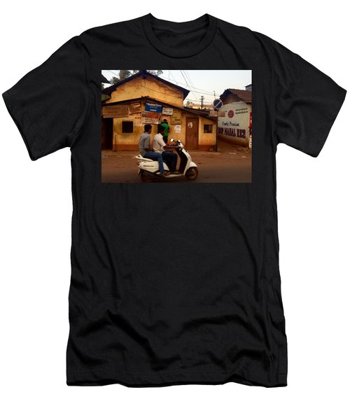 Motorbike Crossing Goa Times Newstand Men's T-Shirt (Athletic Fit)