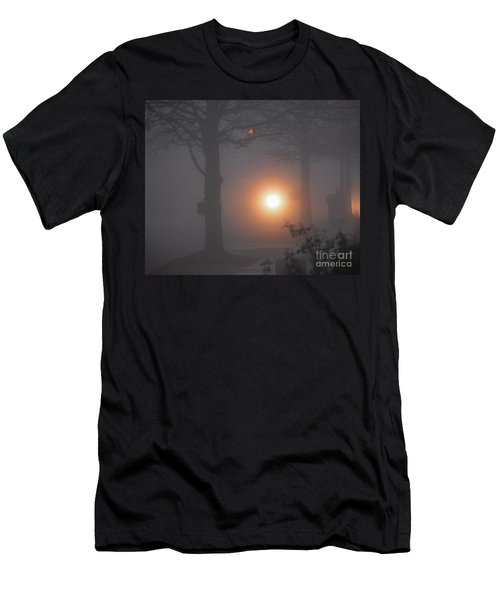 Motorcycle In The Fog In Loganville Georgia Men's T-Shirt (Athletic Fit)