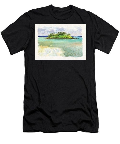Men's T-Shirt (Athletic Fit) featuring the painting Motu Taakoka by Judith Kunzle