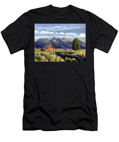 Moulton Barn At The Grand Tetons Men's T-Shirt (Athletic Fit)