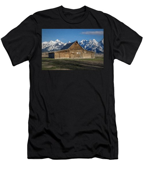 Men's T-Shirt (Athletic Fit) featuring the photograph Moulton Barn by Lou Novick