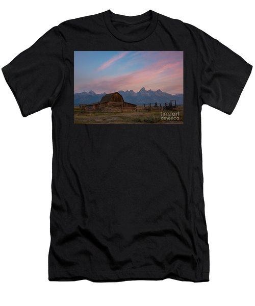 Moulton Ranch Sunrise At Mormon Row  Men's T-Shirt (Athletic Fit)
