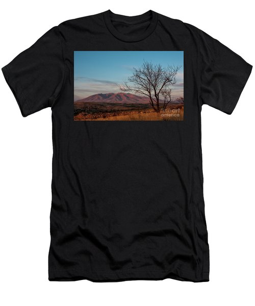 Mount Ara At Sunset With Dead Tree In Front, Armenia Men's T-Shirt (Slim Fit) by Gurgen Bakhshetsyan
