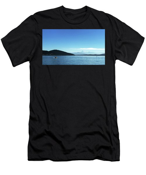 Men's T-Shirt (Athletic Fit) featuring the photograph Mount Baker Looms by Lorraine Devon Wilke