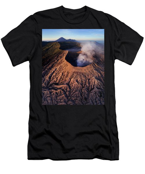 Men's T-Shirt (Athletic Fit) featuring the photograph Mount Bromo At Sunrise by Pradeep Raja Prints