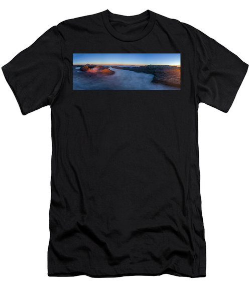 Mount Bromo Scenic View Men's T-Shirt (Athletic Fit)