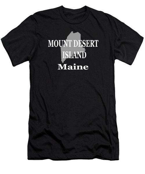 Mount Desert Island Maine State City And Town Pride  Men's T-Shirt (Athletic Fit)