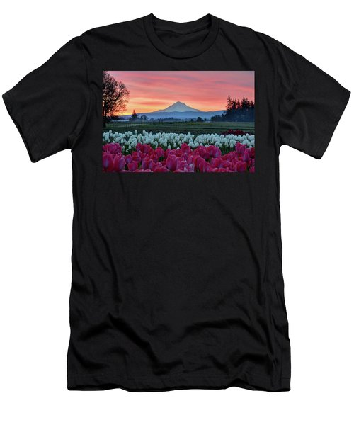 Mount Hood Sunrise Men's T-Shirt (Athletic Fit)