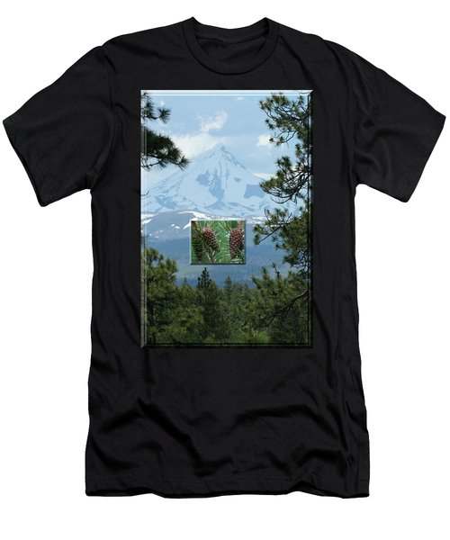 Mount Jefferson With Pines Men's T-Shirt (Athletic Fit)