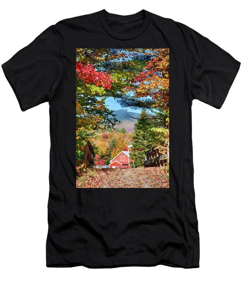 Men's T-Shirt (Athletic Fit) featuring the photograph Mount Mansfield Seen Through Fall Foliage by Jeff Folger