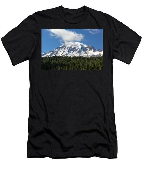 Mount Rainier Closeup Men's T-Shirt (Athletic Fit)