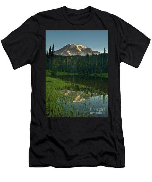 Mount Rainier Dawn Reflection Men's T-Shirt (Athletic Fit)