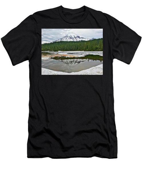 Mount Rainier From Reflection Lakes Men's T-Shirt (Athletic Fit)