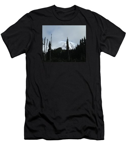 Mount Rainier Men's T-Shirt (Slim Fit) by Tony Mathews