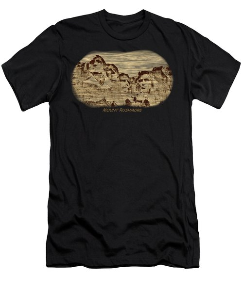 Mount Rushmore Woodburning 2 Men's T-Shirt (Athletic Fit)