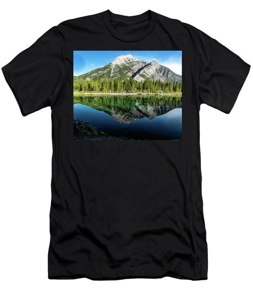 Mount Skogan Reflected In Mount Lorette Ponds, Bow Valley Provin Men's T-Shirt (Athletic Fit)