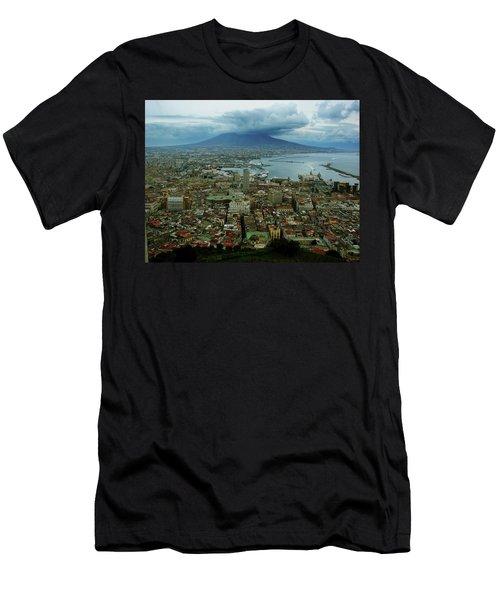 Mount Vesuvius Naples It Men's T-Shirt (Athletic Fit)
