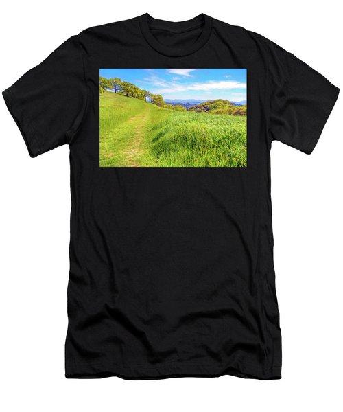 Mount Wanda Digital Watercolor Men's T-Shirt (Athletic Fit)