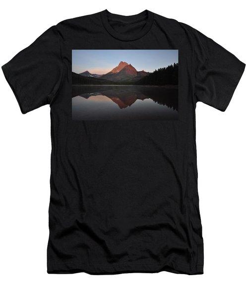 Mount Wilbur, Glacier National Park Men's T-Shirt (Athletic Fit)