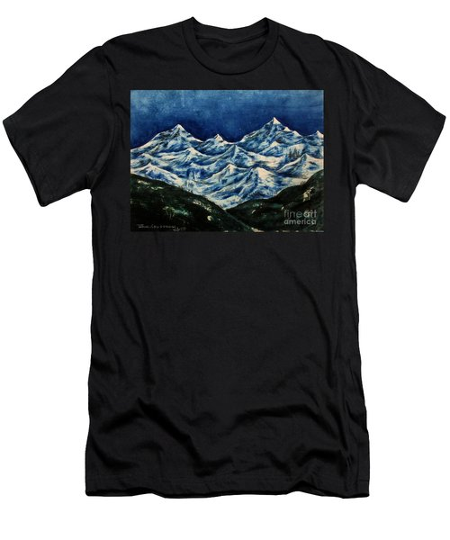 Mountain-2 Men's T-Shirt (Athletic Fit)