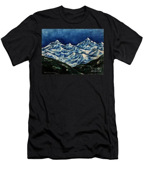 Mountain-2 Men's T-Shirt (Athletic Fit)