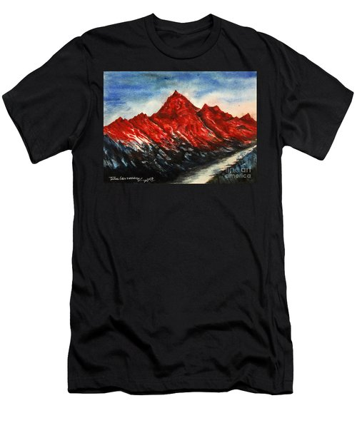 Mountain-7 Men's T-Shirt (Athletic Fit)