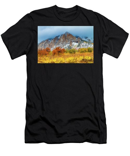 Mountain Autumn Color Men's T-Shirt (Athletic Fit)