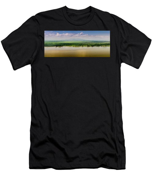 Mountain Beyond The River Men's T-Shirt (Athletic Fit)