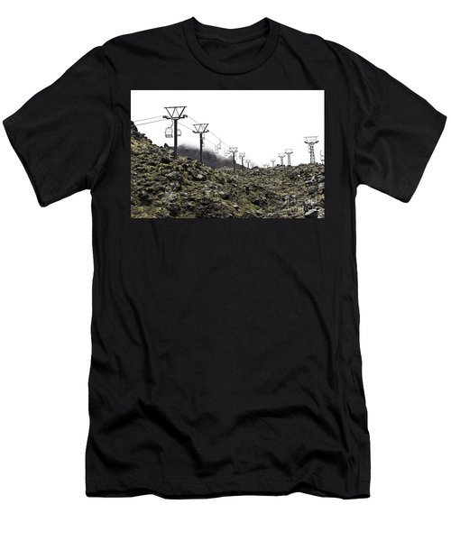 Mountain Cable Road Waiting For Snow. Mount Ruapehu. New Zealand Men's T-Shirt (Athletic Fit)