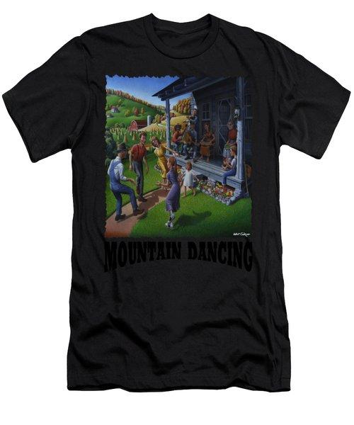 Mountain Dancing - Flatfoot Dancing Men's T-Shirt (Athletic Fit)