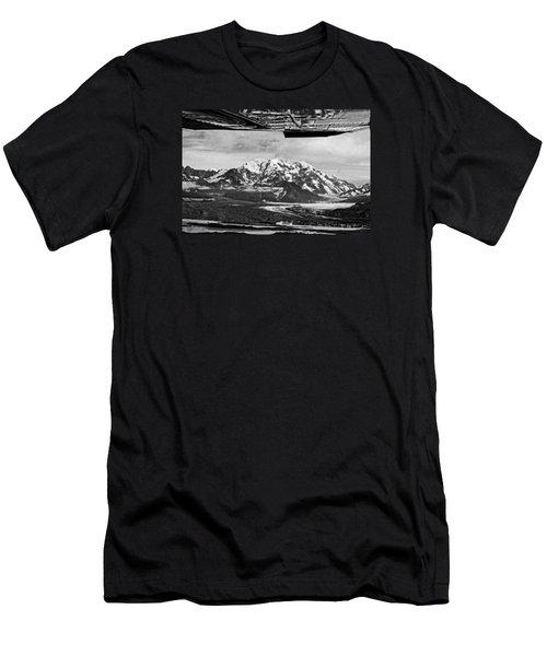 Mountain Flying Alaska Men's T-Shirt (Athletic Fit)