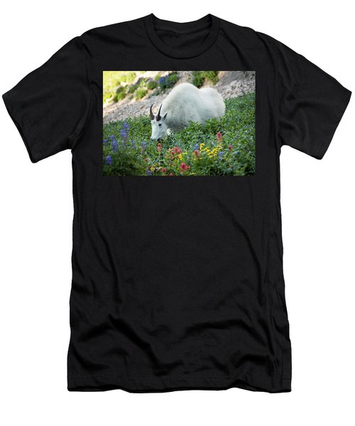 Mountain Goat On Timp Men's T-Shirt (Athletic Fit)