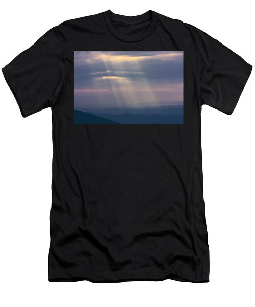 Mountain God Rays Men's T-Shirt (Athletic Fit)
