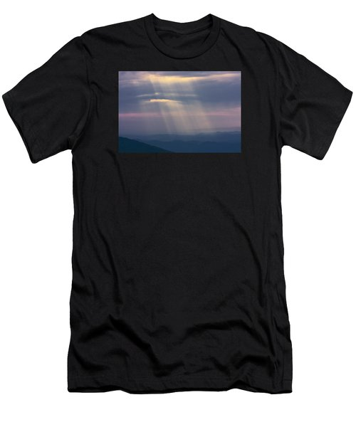 Men's T-Shirt (Athletic Fit) featuring the photograph Mountain God Rays by Ken Barrett