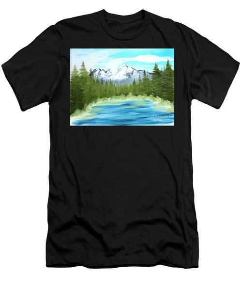 Mountain Imagining Men's T-Shirt (Athletic Fit)