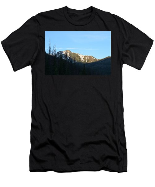 Men's T-Shirt (Athletic Fit) featuring the photograph Mountain In Rocky Mountian Np Co by Margarethe Binkley