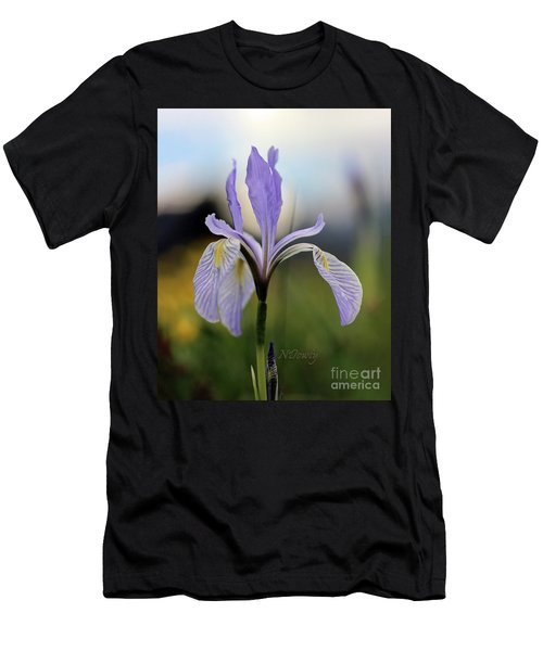 Mountain Iris With Bud Men's T-Shirt (Athletic Fit)