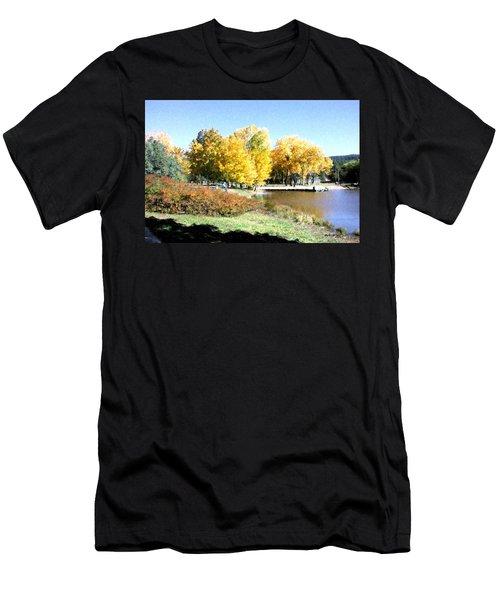 Mountain Lake Autumn Men's T-Shirt (Athletic Fit)