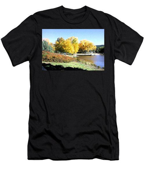 Mountain Lake Autumn Men's T-Shirt (Athletic Fit)