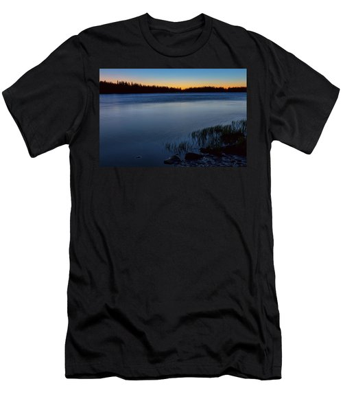 Men's T-Shirt (Slim Fit) featuring the photograph Mountain Lake Glow by James BO Insogna