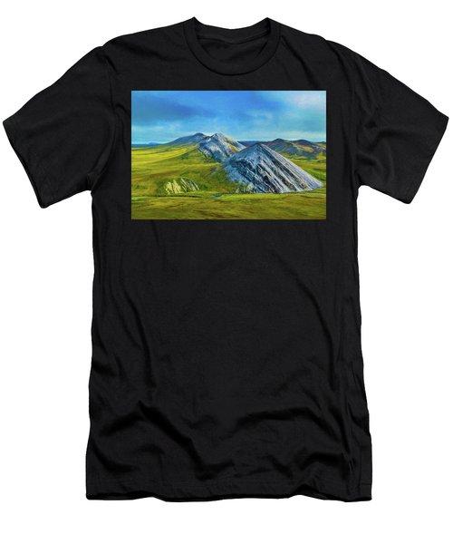 Mountain Landscape Digital Art Men's T-Shirt (Athletic Fit)