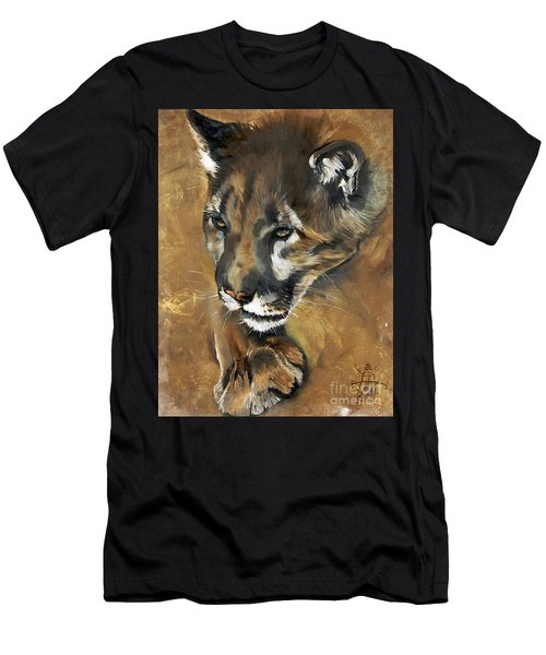 Mountain Lion - Guardian Of The North Men's T-Shirt (Athletic Fit)