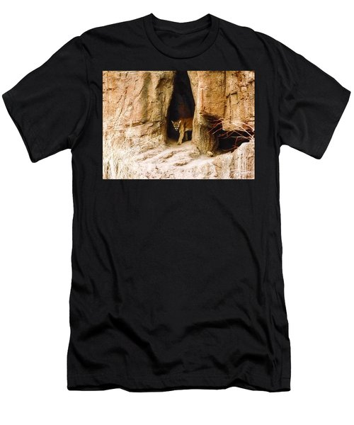 Mountain Lion In The Desert Men's T-Shirt (Athletic Fit)